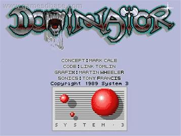 Dominator (1989)(MCM Software)[re-release]