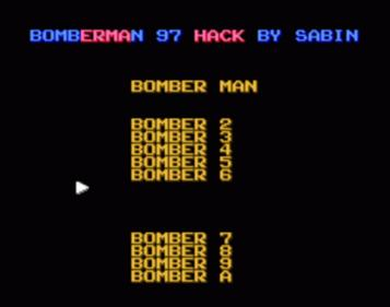 Bomberman 97 (Bomberman Collection Hack)