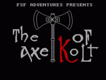 Axe Of Kolt, The (1990)(FSF Adventures)(Part 1 Of 4)[128K]