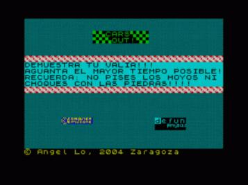 Cars Out (2006)(Defun Projects)(ES)[Bytemaniacos 2004 BASIC Contest]