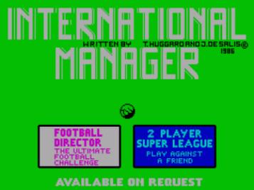 International Manager (1986)(Cult Games)[re-release]