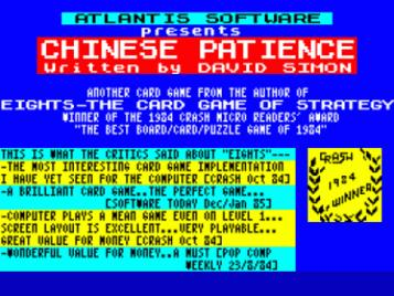 Chinese Patience (1985)(Atlantis Software)