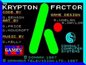 Krypton Factor, The (1987)(TV Games)[a]