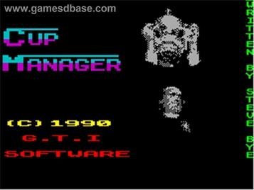 Cup Manager (1990)(GTI Software)