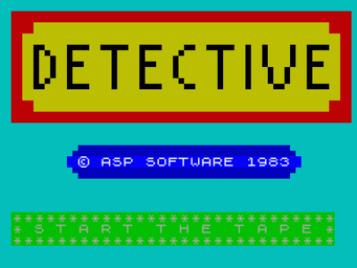 Detective (1983)(Forward Software)[re-release]