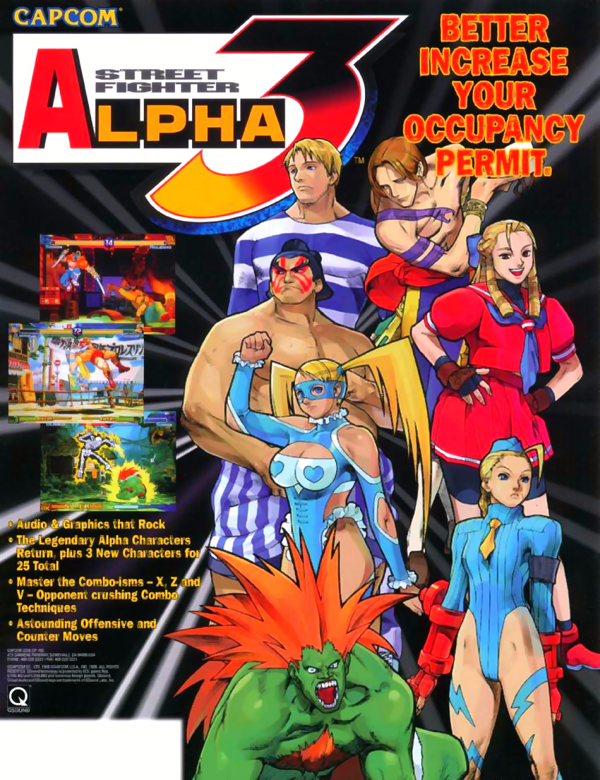 Street Fighter Alpha 3 (980904 USA) ROM | CPS2 Games