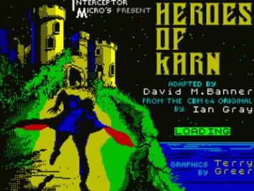 Heroes Of Karn (1984)(Interceptor Micros Software)