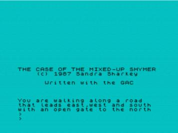 Case Of The Mixed-Up Shymer, The (1987)(Atlas Adventure Software)