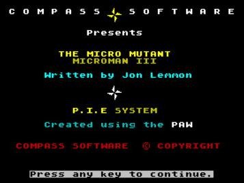 Project-X III - The Micro Mutant (1991)(Compass Software)